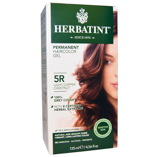 Herbatint  Permanent Haircolor Gel  5R Light Copper Chestnut  4 56 fl oz  135 ml