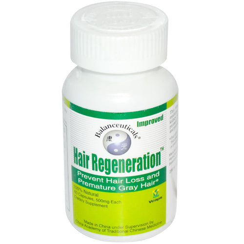 Balanceuticals Hair Regeneration Dietary Supplement Capsules, 500 mg, 60-Count Bottle