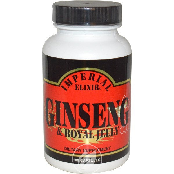 Ginco International Imperial Elixir  Ginseng & Royal Jelly, 100 ea