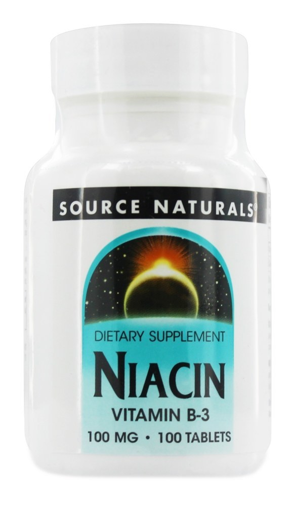 Source Naturals - Niacin Vitamin B3 100 mg. - 100 Tablets