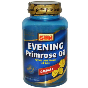 Nature's Life Evening Primrose Oil 1300 mg | PMS and Menopause Balance Support for Women | Skin Health | 60ct