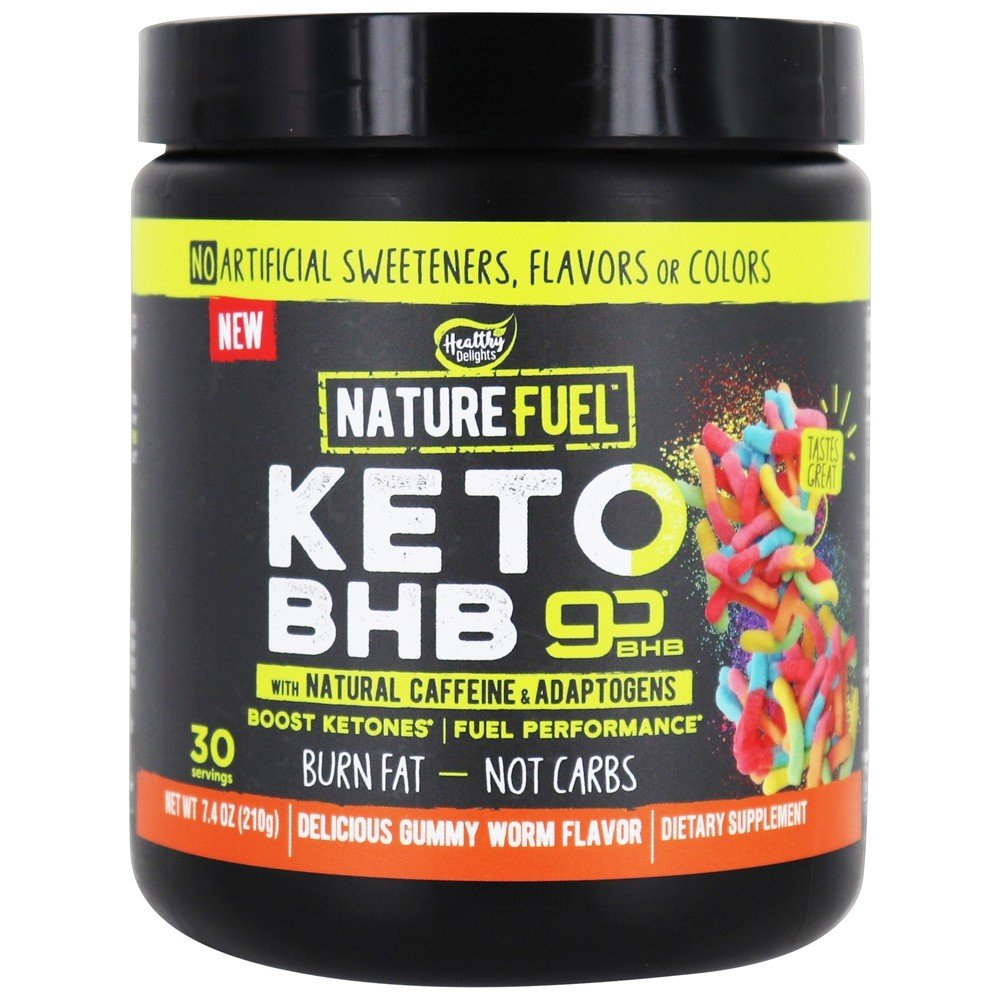 Nature Fuel - Keto BHB Powder with Natural Caffeine & Adaptogens 30 Servings Gummy Worm - 7.4 oz.
