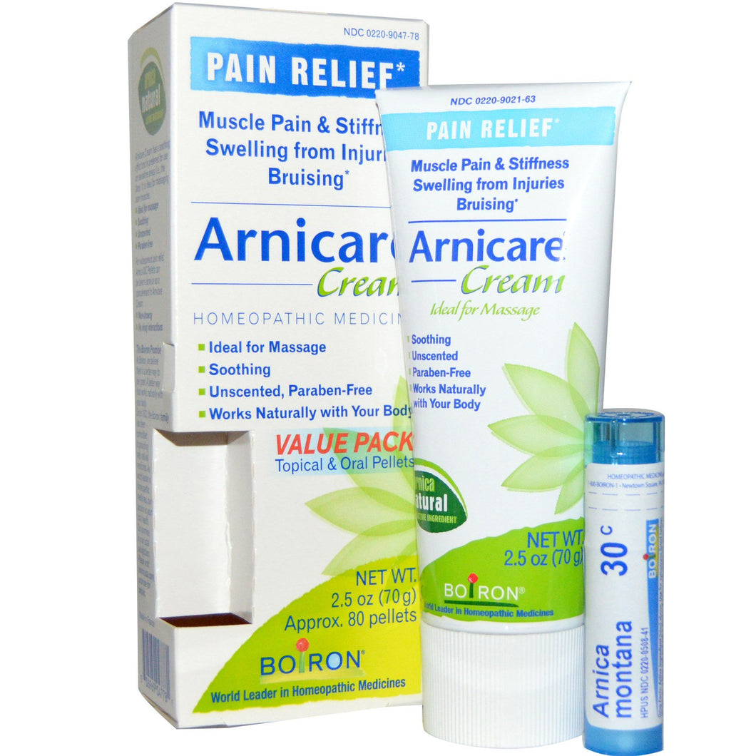 Boiron Arnicare Cream Pain Relief 2 5 oz 70 g Appr 80 Pellets