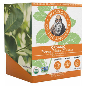 Wisdom Natural Brands 168527 Organic Yerba Mate Masala Tea Bag - 16 Bag, 6 Per Case