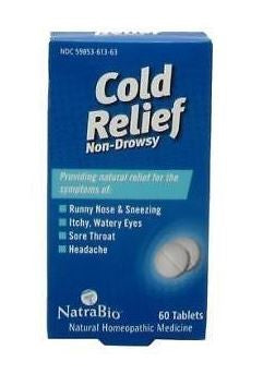 NatraBio Cold and Flu Relief Non-Drowsy 60 Tablets