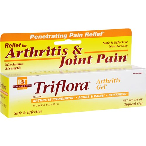 Boericke and Tafel Triflora Arthritis Gel - 2.75 oz Homeopathic Pain Relief
