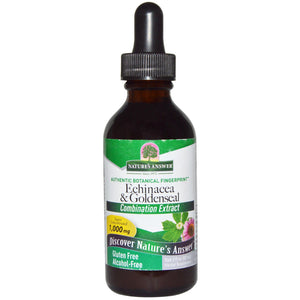 Nature's Answer Echinacea & Goldenseal, Alcohol-Free, 1,000 mg, 2 fl oz (60 ml)