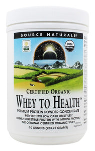 Source Naturals Source Naturals Whey to Health Premium Protein Powder Concentrate, 10 oz