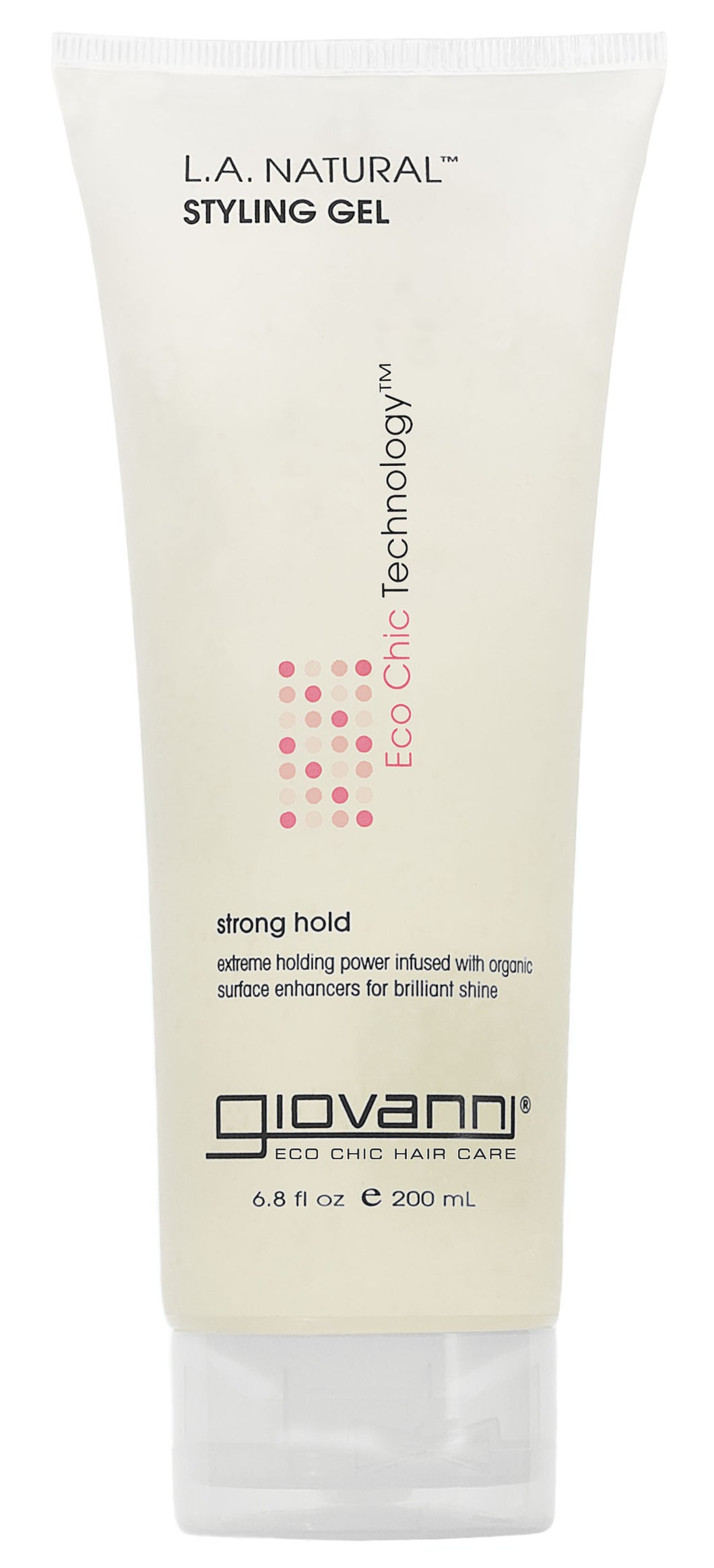 Giovanni L.A. Hold Natural Styling Gel, Strong and Firm Hold, No Parabens, No Sulfates 6.8 oz