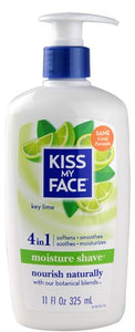 Kiss My Face Moisture Shave, Key Lime, 11 Oz