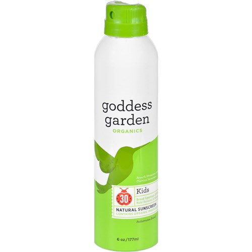Goddess Garden Organic Sunscreen - Sunny Kids Natural SPF 30 Continuous Spray - 6 oz Baby Skin and Sun