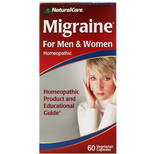 NaturalCare  Migraine  For Men and Women  60 Capsules