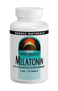 Source naturals melatonin 3 mg tablets, 120 ct