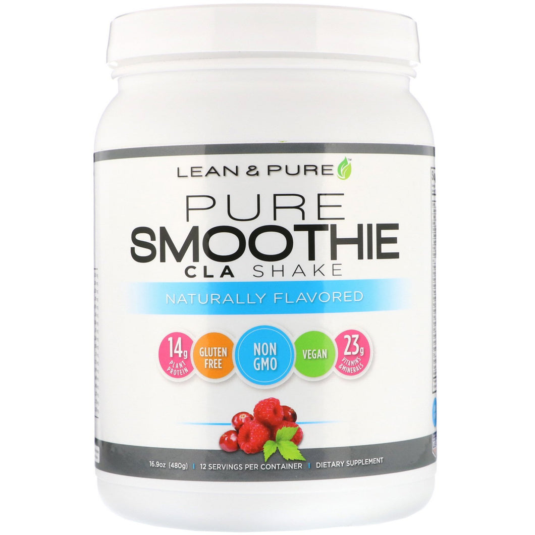 Lean & Pure Pure Smoothie CLA Shake, Naturally Flavored, 16.9 oz (480 g)