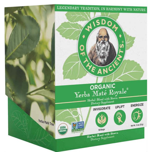 Wisdom Natural Brands 168523 Organic Yerba Mate Royale Tea Bag - 16 Bag, 6 Per Case
