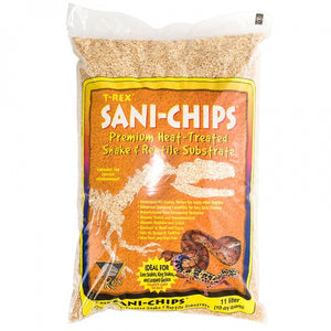 10 quarts T-Rex Sani-Chips Premium Heat Treated Snake & Reptile Substrate