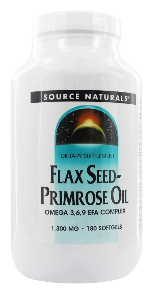 Source Naturals Source Naturals  Flax Seed Primrose Oil, 180 ea