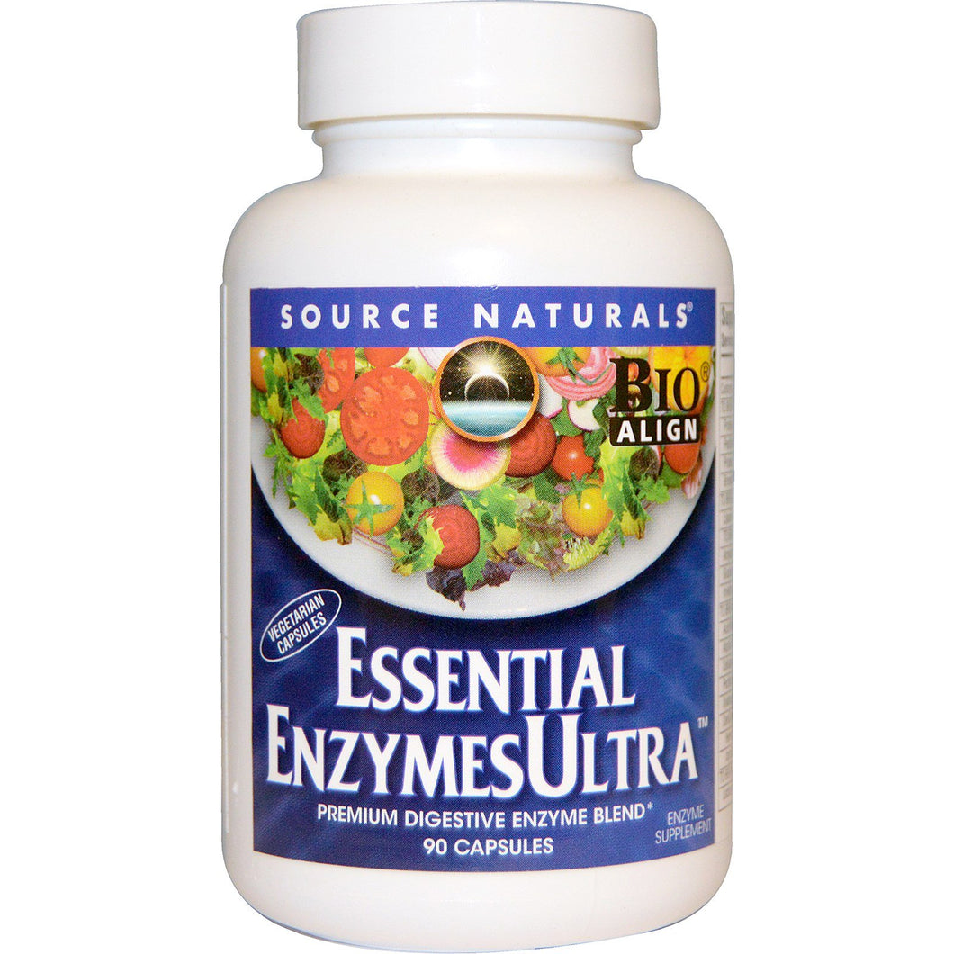 Source Naturals  Essential EnzymesUltra  90 Capsules