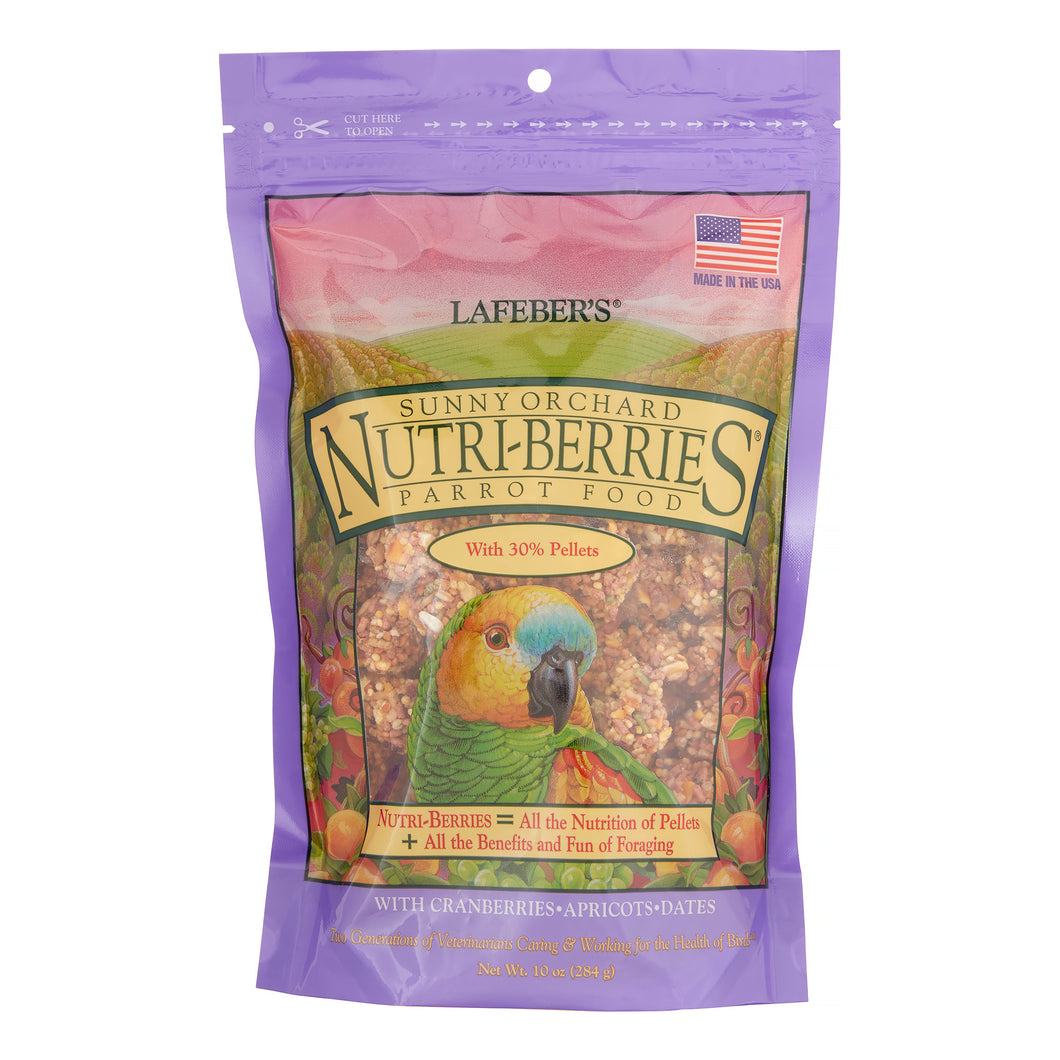 Lafeber Nutri-Berries Sunny Orchard Parrot Bird Food, 10 Oz