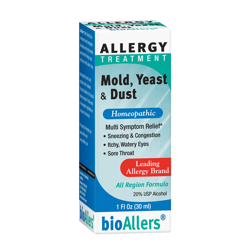 bioAllers Allergy Treatment | Homeopathic Formula May Help Relieve Sneezing, Congestion, Itching, Rashes & Watery Eyes | 1 Fl Oz (Mold, Yeast & Dust)