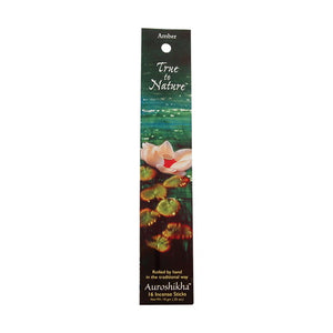 Auroshikha True To Nature Incense Sticks, Amber Essence - 10 Gm