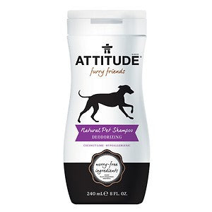 Attitude furry friends natural pet shampoo deodorizing , 8-oz bottle