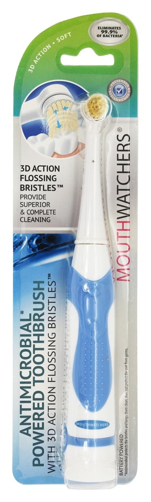 Mouth Watchers - Toothbrush - Powered Blue - Case of 5 - 1 Count