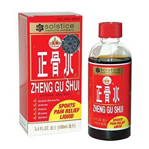 Solstice medicine company Zheng Gu Shui Topical Pain Relief Herbal Liquid, 3.4 oz