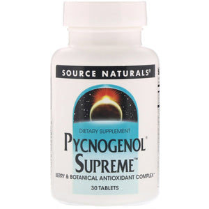 Pycnogenol Supreme - 30 Tablets by Source Naturals