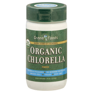 Organic Chlorella Powder Green Foods 2.1 Ounce Powder