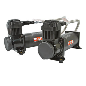 Air Suspension Compressor Dual Black 444