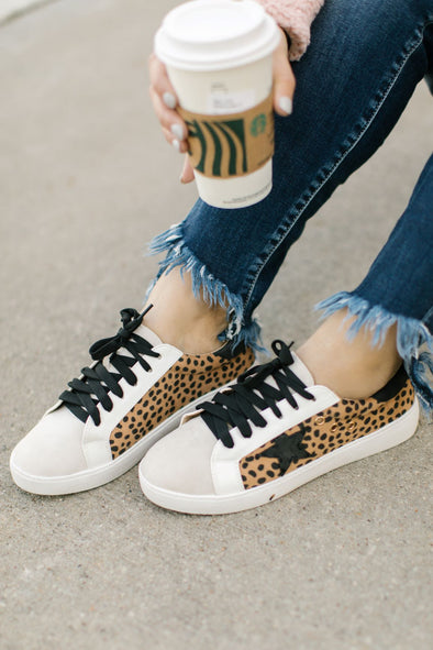 Emma Low Top Cheetah Star Sneakers