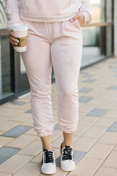 Madeleine Blush Tie-Dye Sweatpants
