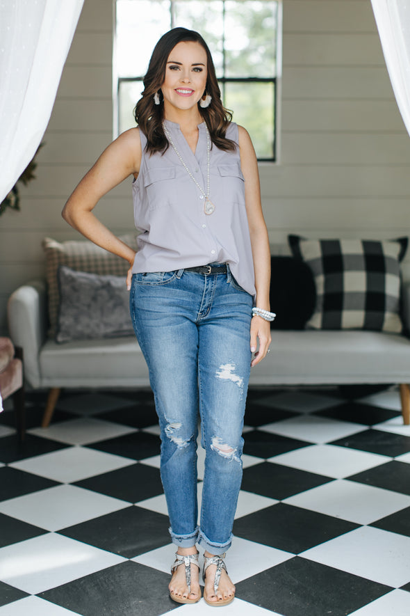 Zoey Button Up Top