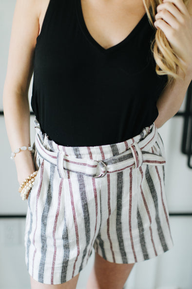Dahlia Striped Shorts