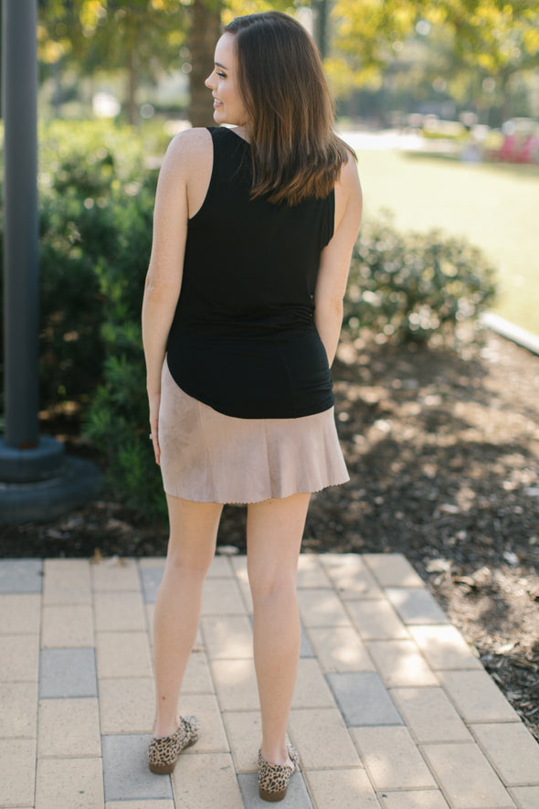 Demi Pencil Skirt - Taupe