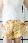 Hope Mustard Patterned Shorts