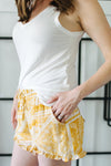 Hope Patterned Shorts - Mustard