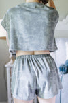 Piper Grey Crop Two Piece Set