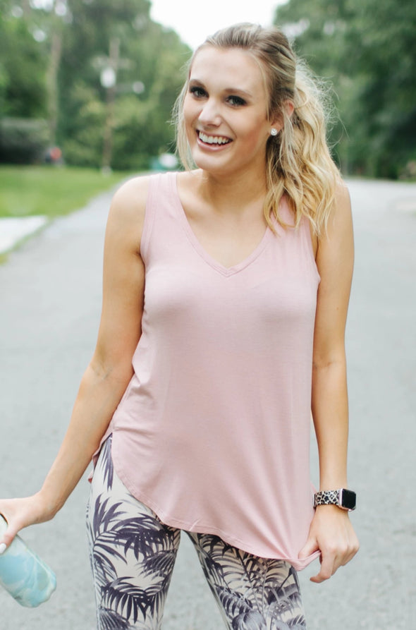 Whitney Sleeveless Top - Rose