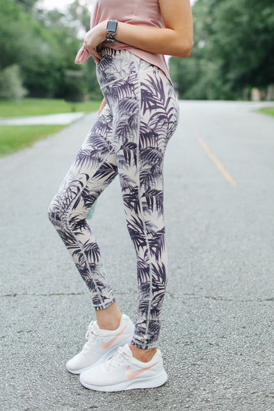 Chelsea Sandy Tropical High Waist Leggings