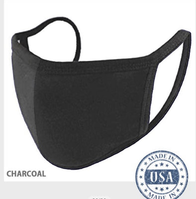Charcoal Cloth Face Mask - Rhinestone Leopard