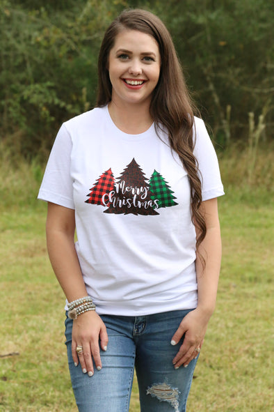Merry Christmas Leopard Tree Tee