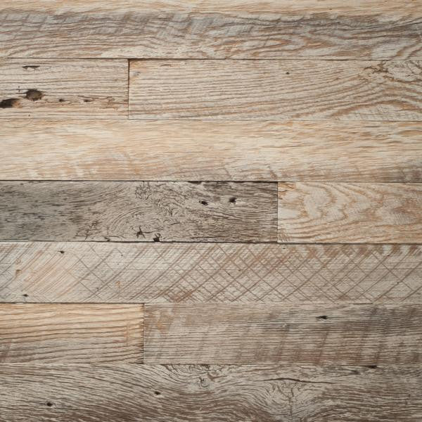 PlankWood Reclaimed Whitewash Barnwood - Easy Install (20ft² Bundle)