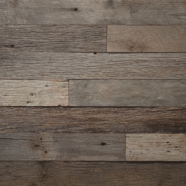 PlankWood Reclaimed Weathered Gray Barnwood - Easy Install (20ft² Bundle)