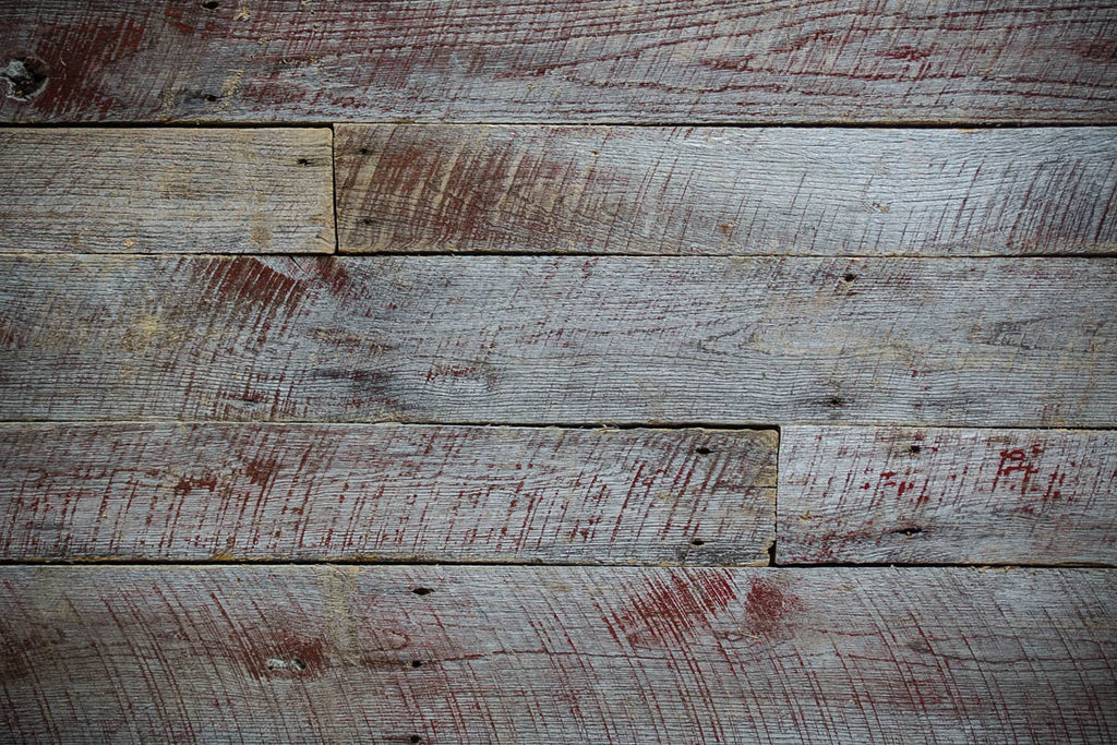 Touch of Red Hardwood Gray