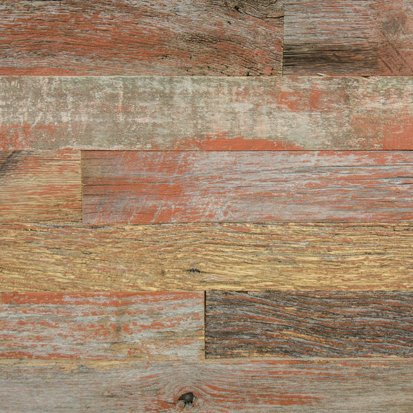 PlankWood Reclaimed Weathered Red Barnwood - Easy Install (20ft² Bundle)