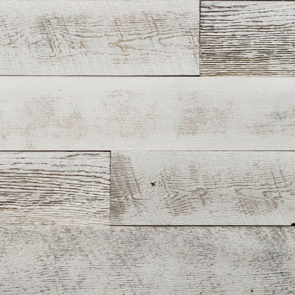 PlankWood Shiplap White Barnwood - Easy Install (20ft² Bundle)
