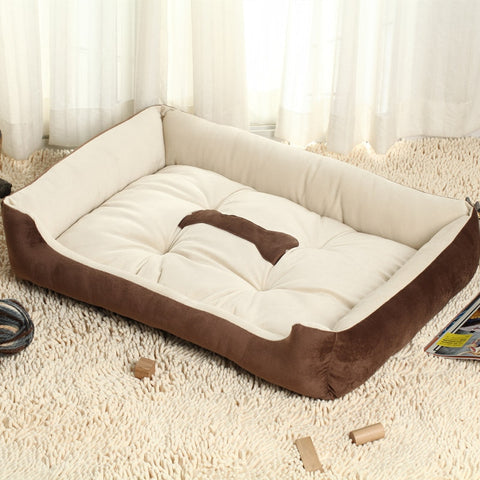 Soft dog house large Dog Bed Kennel Mat Pet Puppy Warm Bed House Plush Cozy Nest Dog House Pad Warm Pet House
