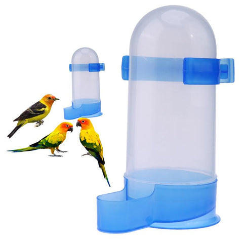 Plastic Bird Feeder Pet Cage Hanging Automatic Food Bowl Drinking Water Dispenser for Parrot Parakeet Budgies Cockatiel
